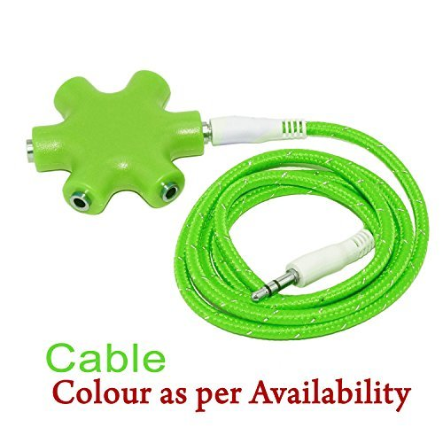 Storite® Multi Headphone Splitter 3.5mm Audio Jack Stereo Headphone Splitter Cable Adapter for All Mobile Phones- Green