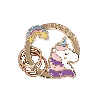 CJH Lindo compacto Mini forma animal llavero unicornio ...