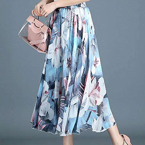 Style Modle en Bohme de Soie Femmes Jupes 11 Mousseline FEOYA Longues qwAzzt
