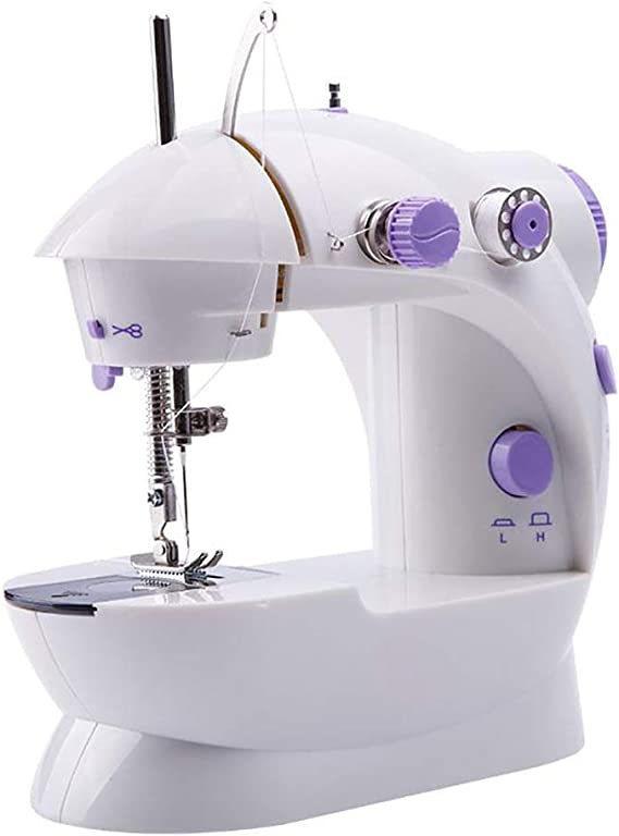 CGOLDENWALL Portable Mini Sewing Machine with Extension Table Handheld Electric Sewing Machines Appliance Perfect for Sewing All Types of Fabrics with Ease