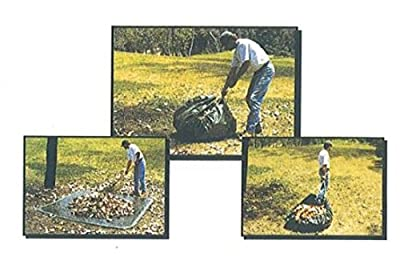 Shefko Mulipurpose Yard Tarp - Versatile Drawstring Tarp For Yard Clean Ups - Convenient And Handy - Formed Into An Instant Dragging Bag - Also Idea As BBQ Grill, Lawn Mowers And Outdoors Furniture Cover