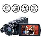 Camcorder Digital Camera Full HD 18X Digital Zoom Night Vision Video Camera with LCD and 270 Degree Rotation Screen with Remote Control