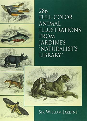286 Full-Color Animal Illustrations: From Jardine's