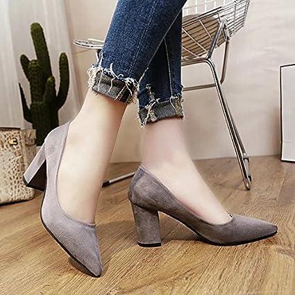 RUGAI-UE Women Winter Ol Shoes,Gray,39 EU
