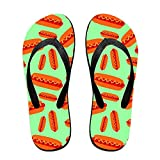 Unisex Summer Hot Dog Flip Flop Shower Sandal