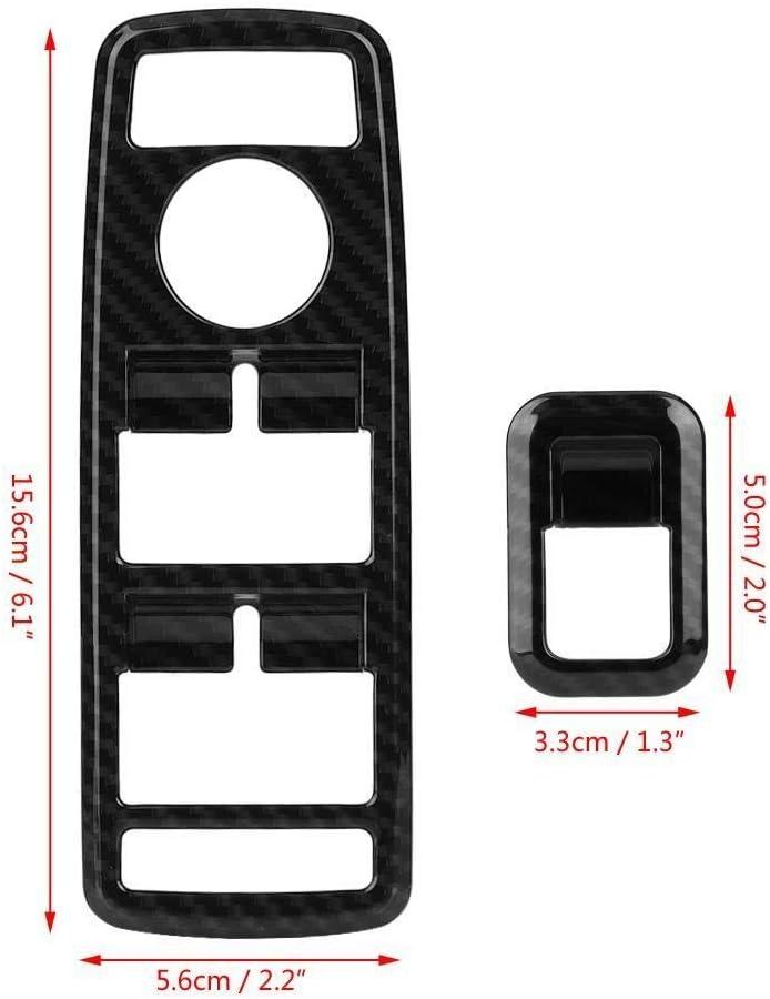 Broco 5Pcs Fensterschalter-Knopf-Ordnungs-Abdeckung for Mercedes Benz A B C E CLA GLA GLK ML GLE Klasse W204