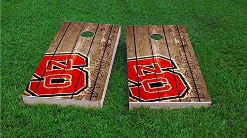 Tailgate Pro's NC State Wolfpack Distressed Cornhole Boards, ACA Corn Hole Set, Comes with 2 Boards and 8 Corn Filled Bags