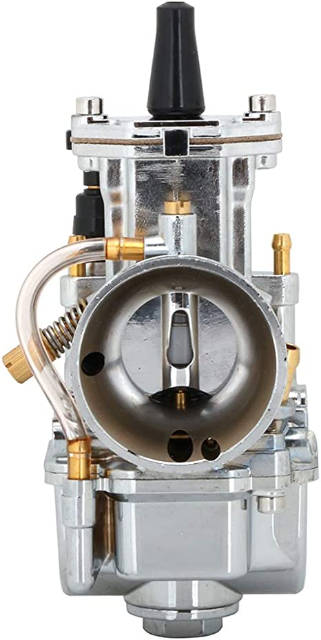 Chrome JFG RACING PWK Carburateur de Moto 30 mm pour Keihin Koso OKO Honda Yamaha Suzuki Kawasaki K.T.M GY6 100 CC 125 CC 150 CC 2T 4T