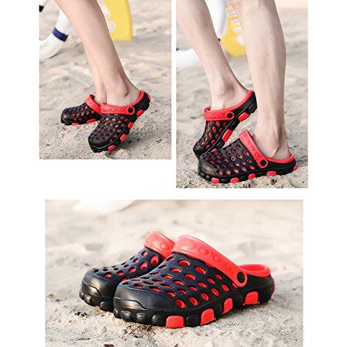 arena zapato jalea Color Yellow LIXIONG EU41 colores Mujer Playa enfermera zapatillas 255 moda CN41 verano de de zapatos UK7 Red Agujero jardín Black Blue Tamaño Amantes 6 Zapatos q78Uqw