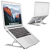 Laptop Stand, EC Technology Ventilated Desktop Laptop Holder, Multi-Angle Adjustable Portable Anti-slip Ergonomic Mount for MacBook, Surface Laptop, Notebook, 10'-15' Tablet -Silver