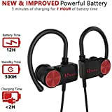 [NEW FOR 2018] NxtLvl Premium Wireless Bluetooth Headphones, 12 hr Battery, Water/Sweat Resistant, Stylish Sport Earbuds, Rich Loud Bass Headphones w/Mic, Noise Cancelling, Comfortable Secure Fit