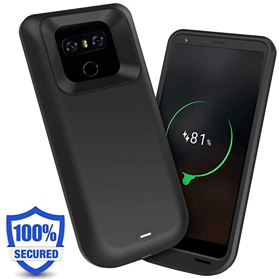 huge selection of f9198 3f9a4 Iconic LG G6 Battery Case,5000mAh Charger Case Rechargeable Portable  Charging Case Extended Battery Pack Protective Charger Case Backup Power  Bank ...