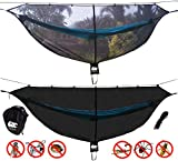 Chill Gorilla Defender 11′ Hammock Bug Net Stops Mosquitos, No See Ums & Repels Insects. Compact, Lightweight. Camp Accessories. Fast Easy Setup. Size 132″ x 51″