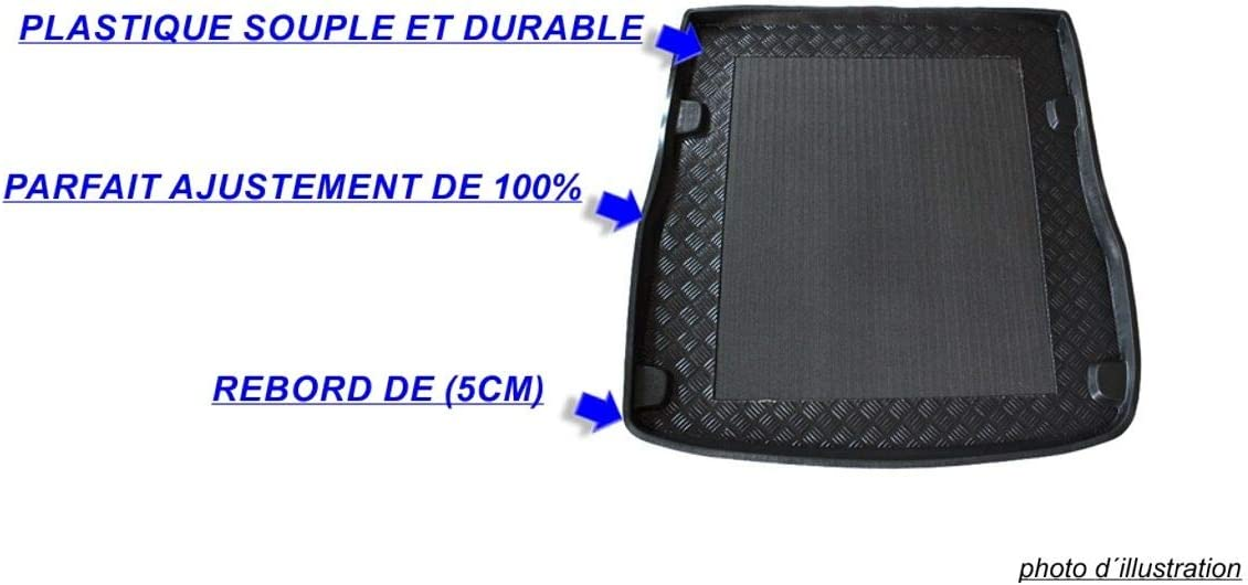 J/&J AUTOMOTIVE ANTID/ÉRAPANT Tapis de Coffre Compatible avec Volvo V50 5P Break 2004-pr/és