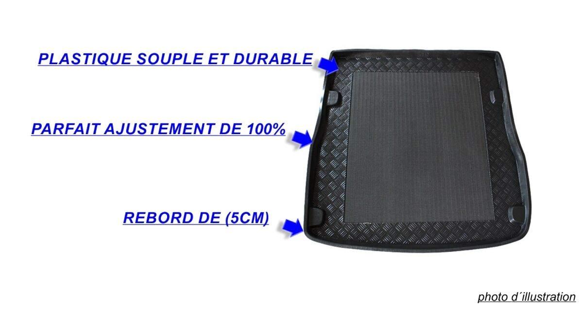 J/&J AUTOMOTIVE pr/és Tapis de Coffre Antid/érapant Compatible avec Citroen C4 II 5 Portes 2011