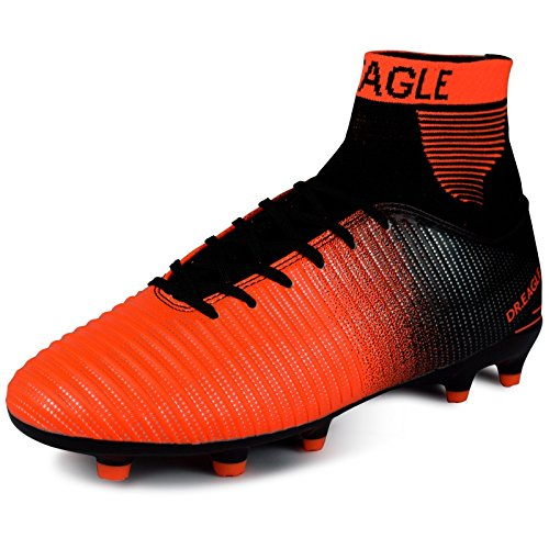 Xing Lin Chaussures De Football Fg Adultes Hi-Top Cloutés Chaussures De Football Gazon Naturel Professionnel Training Chaussures Pour Hommes Et Femmes Concours Pour Étudiants, 41, Rouge