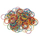 SHENWE 2.2 pounds Elastic Stretchable Bands Multicolor Rubber Bands Elastic Rubber Ring Bands for Home Office School Supplies