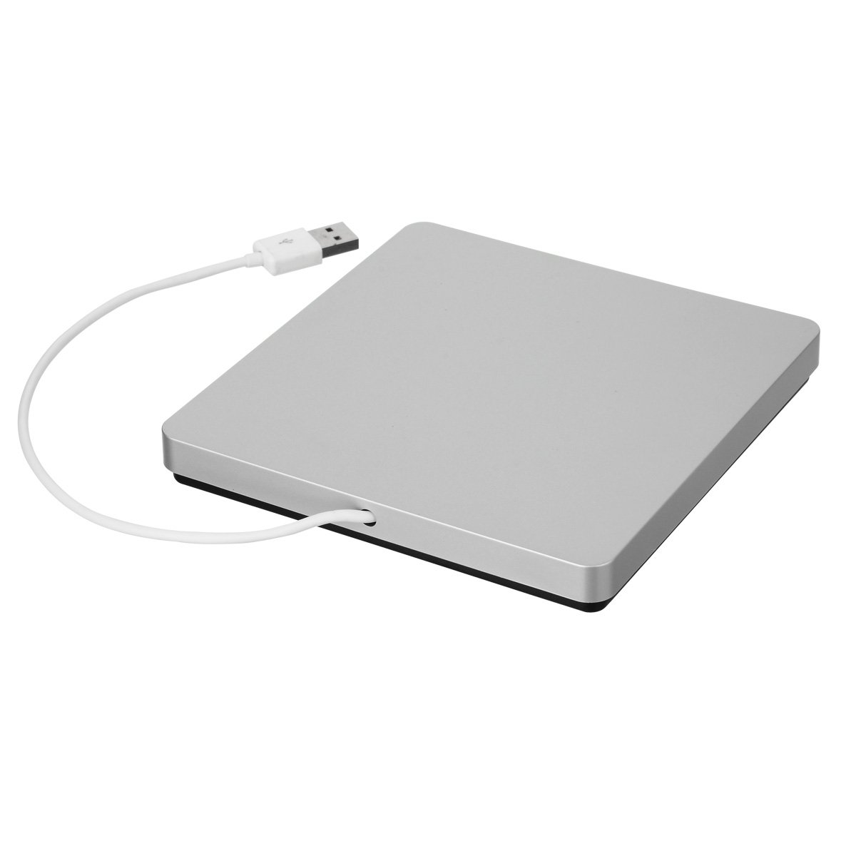 SYMTOP Estuche Carcasa USB 2.0 para grabadora Ranura Externa Ultra Slim Portátil Superdrive SATA para 371 DVD Combo / DVD-RW - Plata