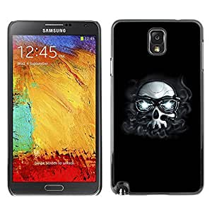 GagaDesign Phone Accessories: Hard Case Cover for Samsung Galaxy Note 3 - Hipster Skull With Glasses
