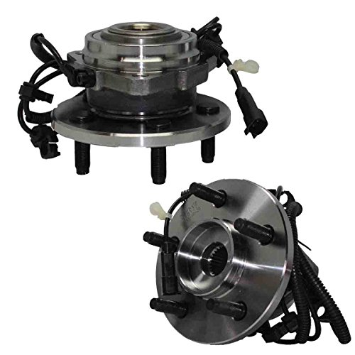 Detroit Axle Both (2) w/ABS New Front Driver & Passenger Side Complete Wheel Hub and Bearing Assembly for 2002-2007 Jeep Liberty ABS