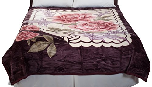 Lavish-Home-Heavy-Thick-Plush-Mink-Blanket-8-Pound-Rose