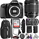 Canon EOS 80D DSLR Camera with EF-S 18-55mm f/3.5-5.6 IS STM Lens w/Complete Photo and Travel Bundle