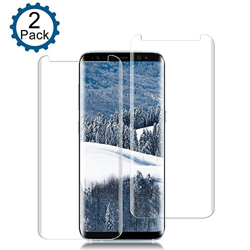 [2 Pack] Galaxy S8 Screen Protector, Loopilops [9H Hardness][Anti-Scratch][Anti-Bubble][3D Curved] [High Definition] [Ultra Clear] Tempered Glass Screen Protector for Samsung Galaxy S8