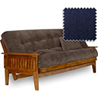 Eastridge Futon Set - Queen Size, Frame, Premium 8 Mattress, Cancun Sapphire...