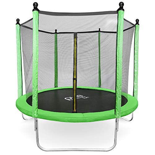 Pure Fun Dura-Bounce 8-Foot Trampoline with Enclosure