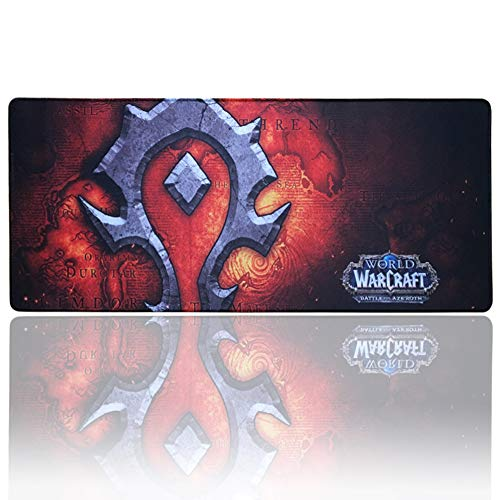 World of Warcraft Extended Gaming Mouse Pad Large,Keyboard and Mouse Combo Pad Desk Mat (27.5″ x 11.8″ x 0.1″)