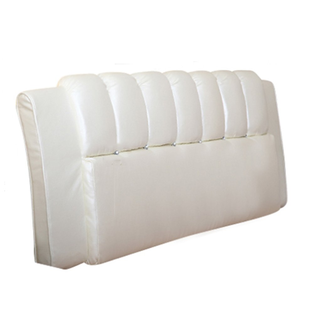 1  With headboard-180cm WENZHE Upholstered Fabric Headboard Bedside Cushion Pads Cover Bed Wedges Backrest Waist Pad Soft Case Double Bed Bed Cover Home Bedroom Large Back Sofa Pillow Easy To Clean Multifunction, There Is Headboard   No Headboard, 6 color