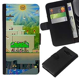 LECELL--Cuero de la tarjeta la carpeta del tirón Smartphone Slots Protección Holder For Samsung Galaxy Core Prime -- Nivel de juego --