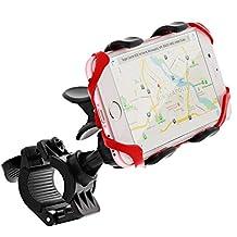 GreatShield Clip-Grip Bike Mount [Upgraded Version, Elastic Secure Strap] Handlebar Mount for Google Pixel/XL, iPhone 7/Plus, S8/S8 Plus, Moto G5 Plus, LG G6 and More