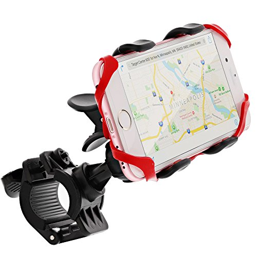 Bike Mount, GreatShield Clip-Grip [2017 Upgrade - Elastic Secure Strap] Handlebar Bicycle Mount Holder for iPhone X (10/Ten)/8Plus/8, Galaxy S8 Plus/S7 Edge/Note 8, LG G6/V20, Google Pixel 2 XL & (Bike Clip)