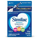 Similac Advance Infant Formula with Iron, Stage 1 On the Go Powder Sticks, 16 Count , 9.76 oz  (Pack of 4) (Packaging May Vary)
