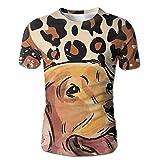 XIA WUEY Cheetah Skin Labrador MenNovelty Baseball Tshirt Graphic Tees Tops For Workout