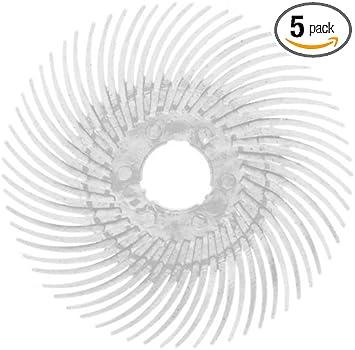 1 inch PN10710 3M//Scotch-Brite Roloc Bristle Disc 5 Pack 120 grit
