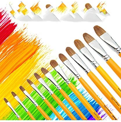 SDAKVDNS オイルペイントブラシ6、簡単によって変形、耐久性に優れ、簡単に清潔で快適なハンドル、オイルブラシのために美術や芸術絵画ペイント