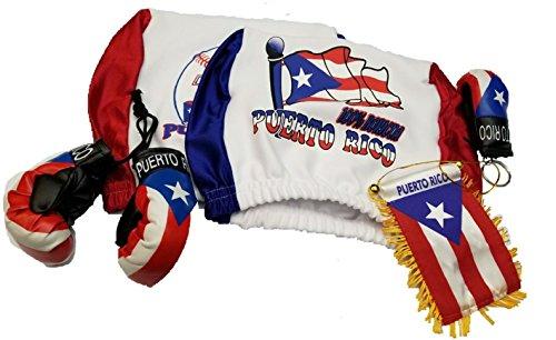 6pcs Puerto Rico Headrest Cover Flag, boxing glove & Puerto
