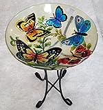 18%22 Butterfly Glass Bowl%2Fbirdbath an