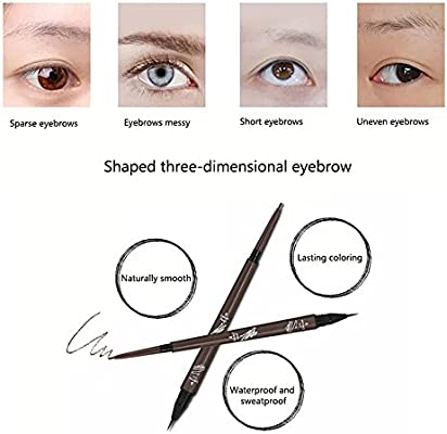 pawaca Eyebrow Pen - Doble cabezal resistente al agua duradero no ...