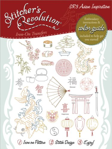 Stitcher's Revolution Asian Inspirations Iron-on Transfer Pattern for Embroidery