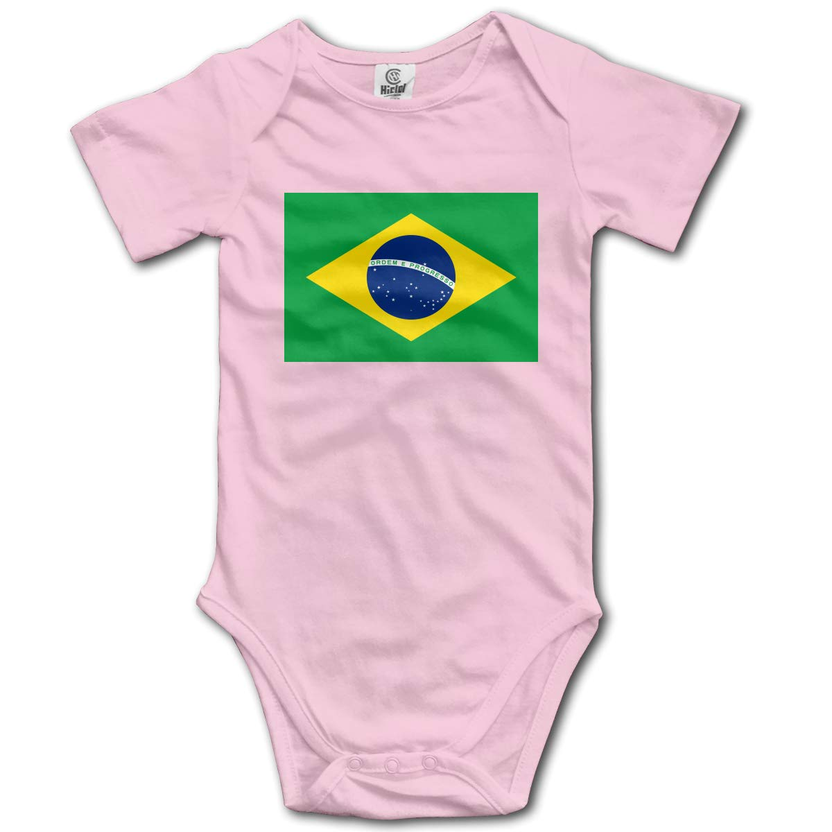 CUTEDWARF Baby Short-Sleeve Onesies Flag of Brazil Bodysuit Baby Outfits