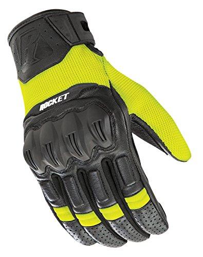 Black Mesh Rocket Glove Joe (Joe Rocket Men's Phoenix 5.1 Hybrid Motorcycle Glove Hi-Viz/Black Large)