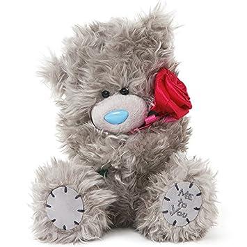 Oso de peluche MTY 18 cm con rosas