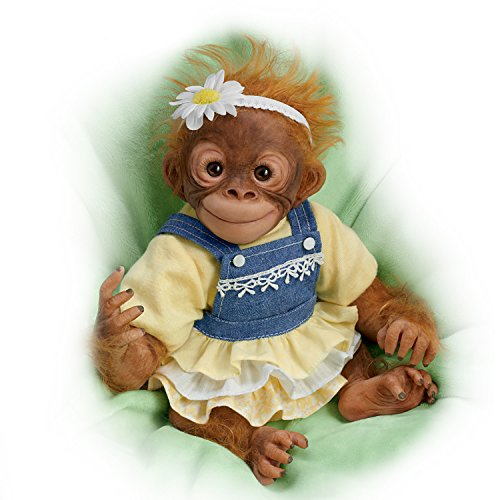 (Darling Daisy Lifelike 10 Inch Monkey Doll by Amy Ferreira by The Ashton-Drake Galleries)