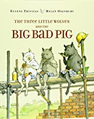 When it comes time for the three little wolves to go out into the world and build themselves a house, their mother warns them to beware the big bad pig. But the little wolves' increasingly sturdy dwellings are no match for the persistent pork...