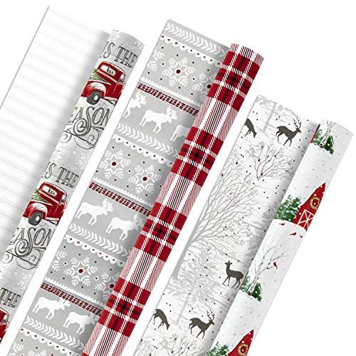 Hallmark Reversible Wrapping Christmas Woodland product image