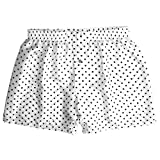 Smooth White Silk Polka Dot Boxers by ROYAL SILK - Men's M (33-34'')