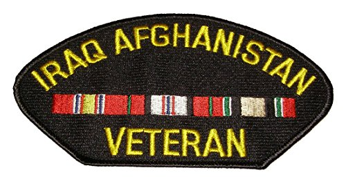 IRAQ AFGHANISTAN VETERAN w/3 RIBBONS PATCH - Veteran Owned Business